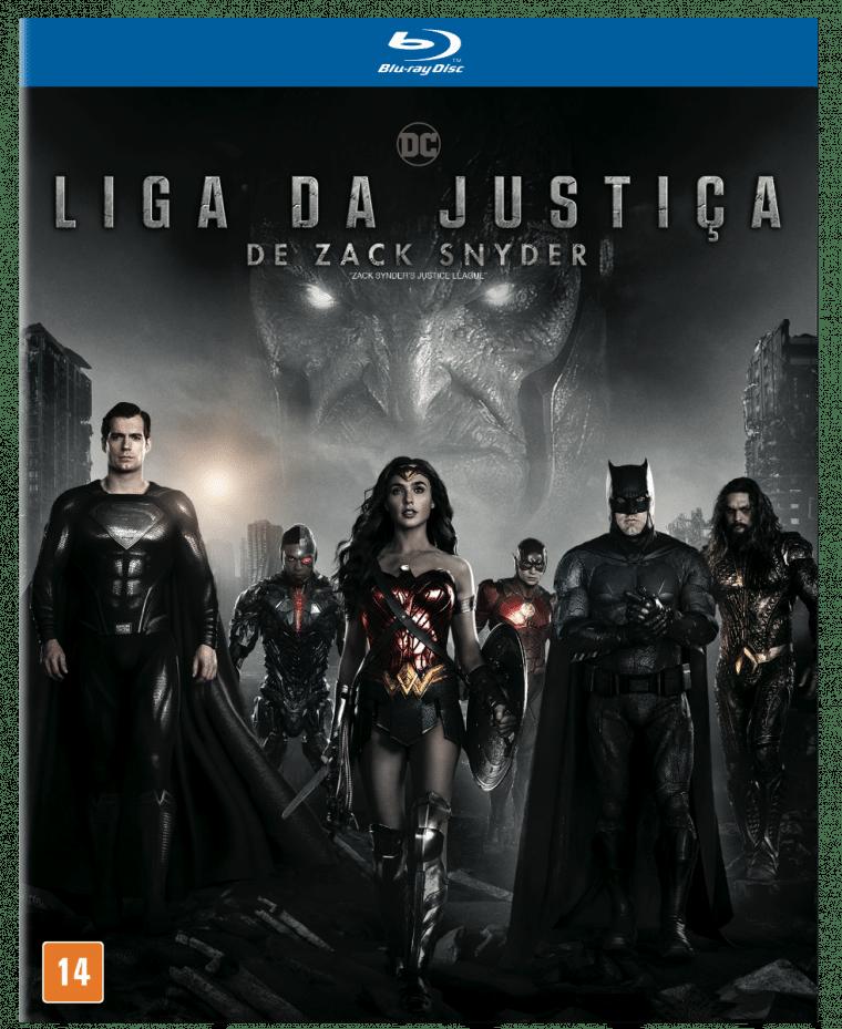 Capa do Blu-ray de Liga da Justiça de Zack Snyder (Divulgação/Solutions 2 Go)