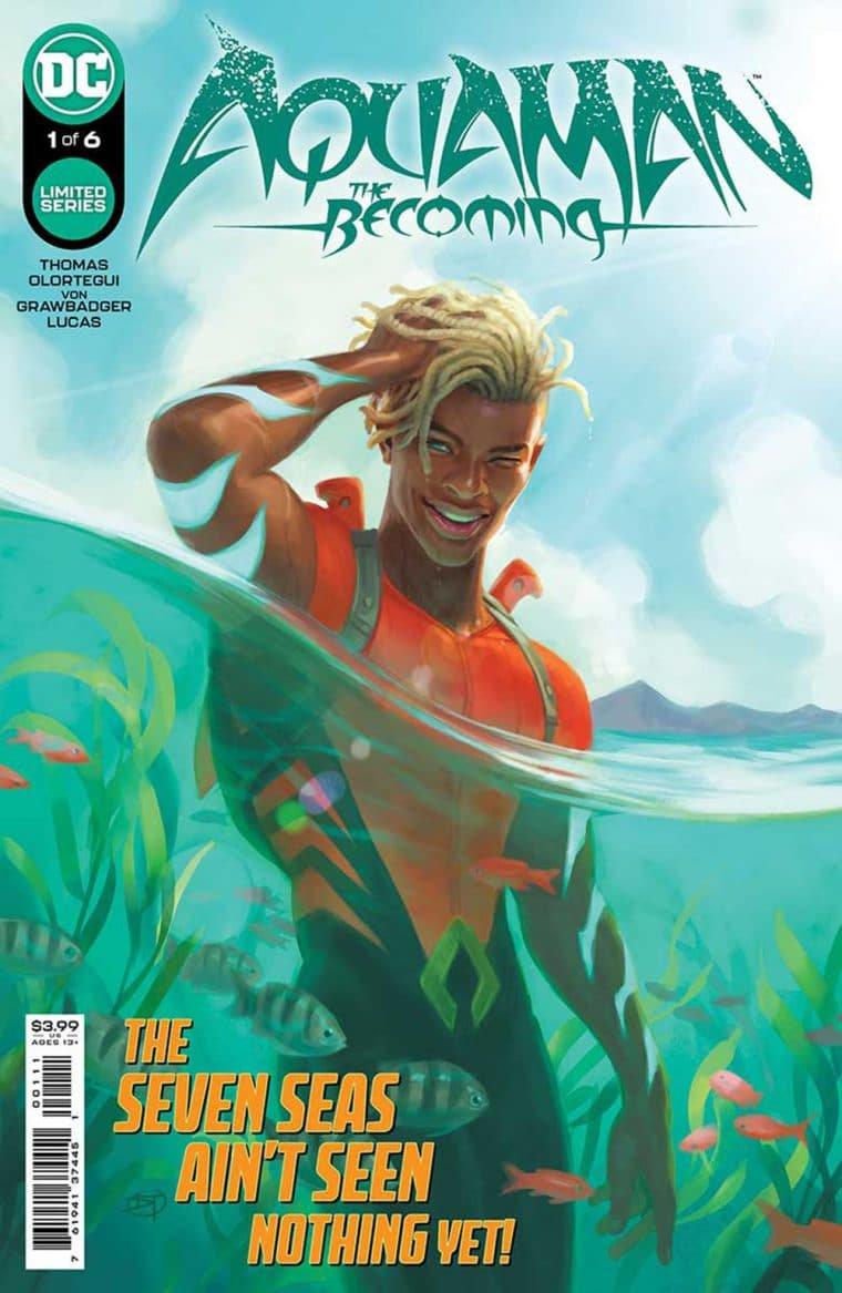 Capa da HQ Aquaman: The Becoming (Divulgação/THR)
