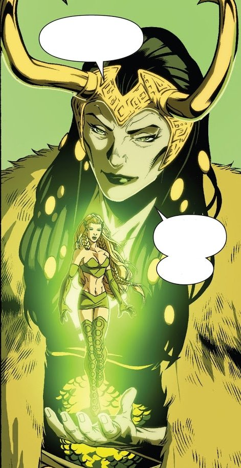 Lady Loki e Encantor na HQ Dark Reign: New Avengers