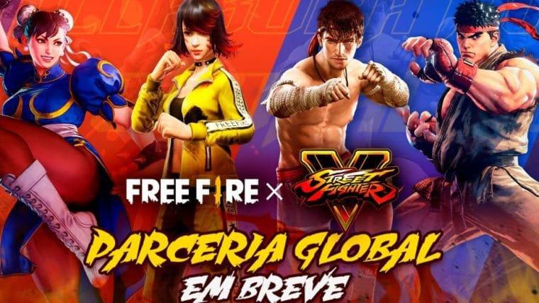 Chun-Li e Ryu, de Street Fighter, vão invadir o Free Fire