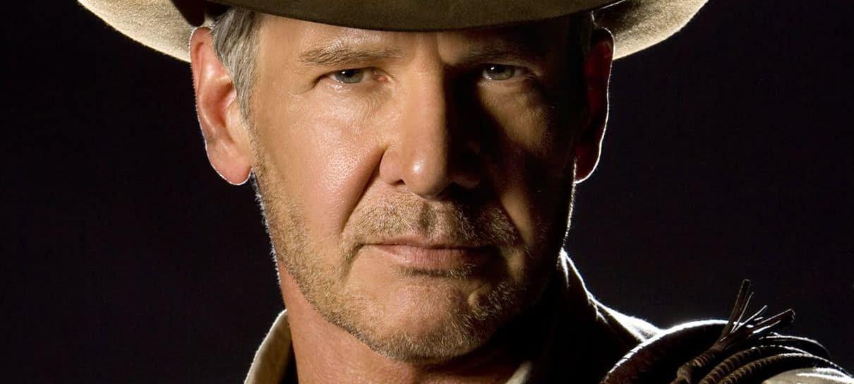 Confira uma foto de Harrison Ford nos bastidores de Indiana Jones 5