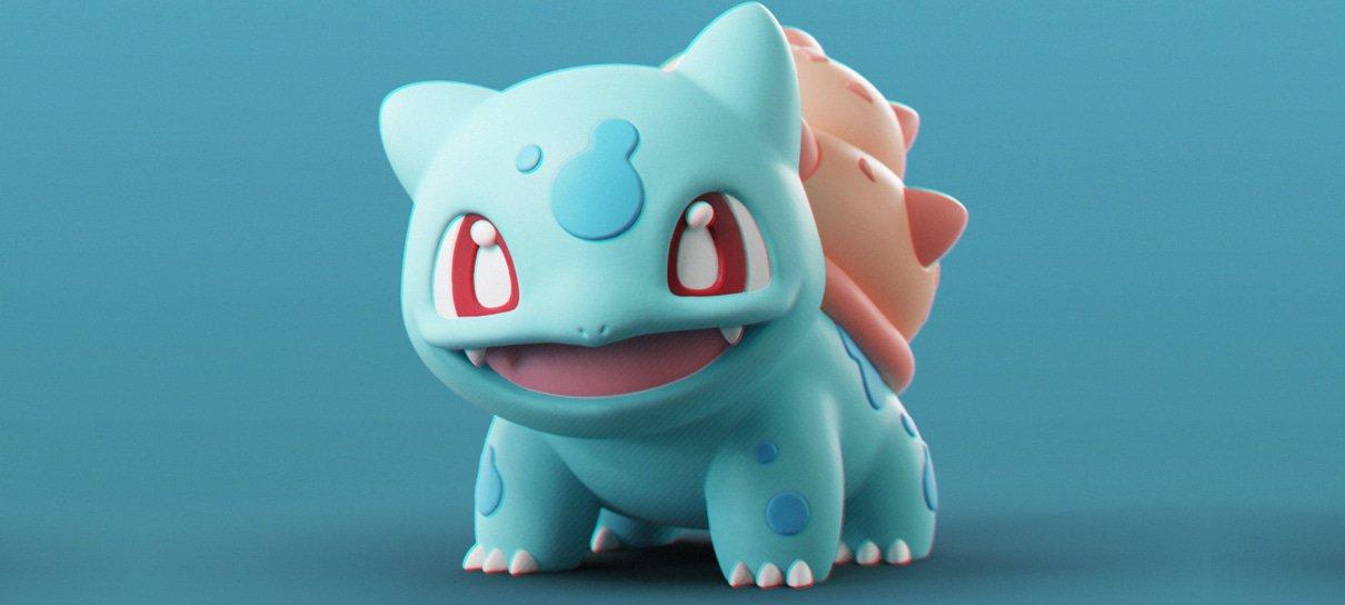 Artista muda o tipo dos Pokémon iniciais em esculturas 3D
