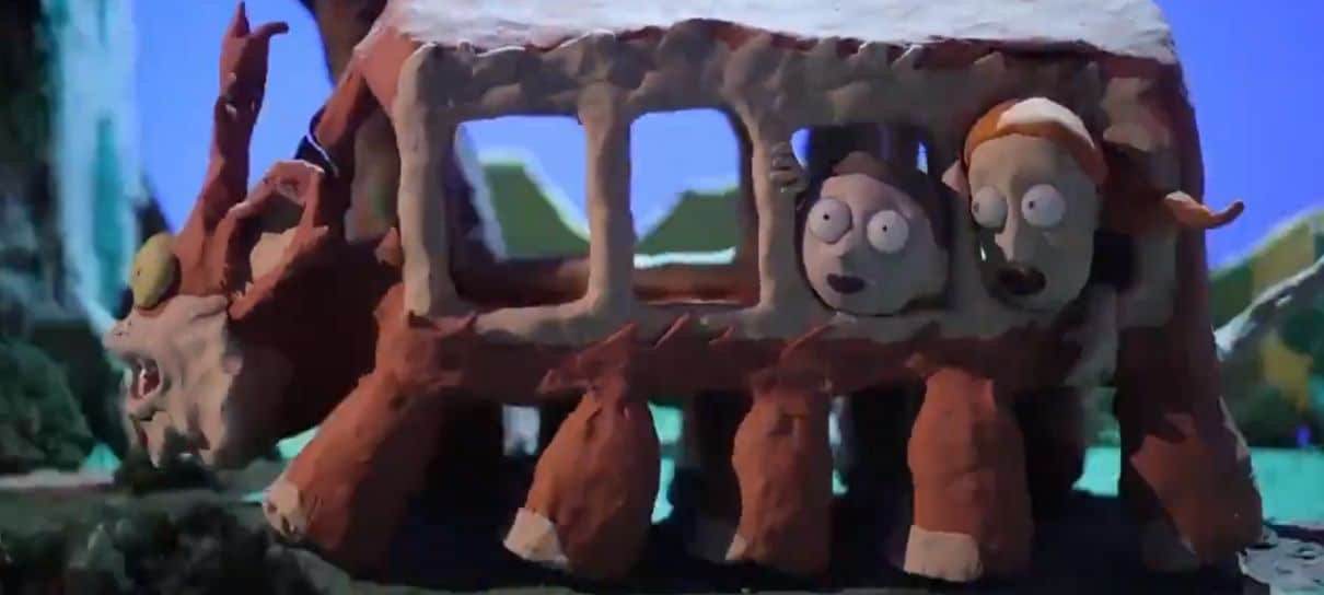 Rick and Morty encontra Meu Amigo Totoro em vídeo especial