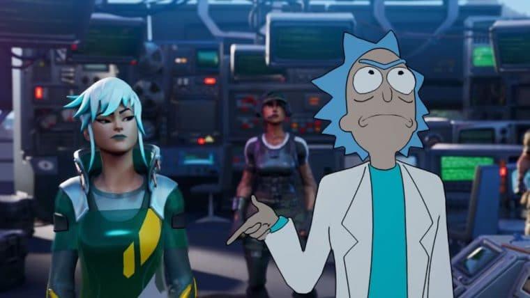 Rick, de Rick and Morty, está no Fortnite
