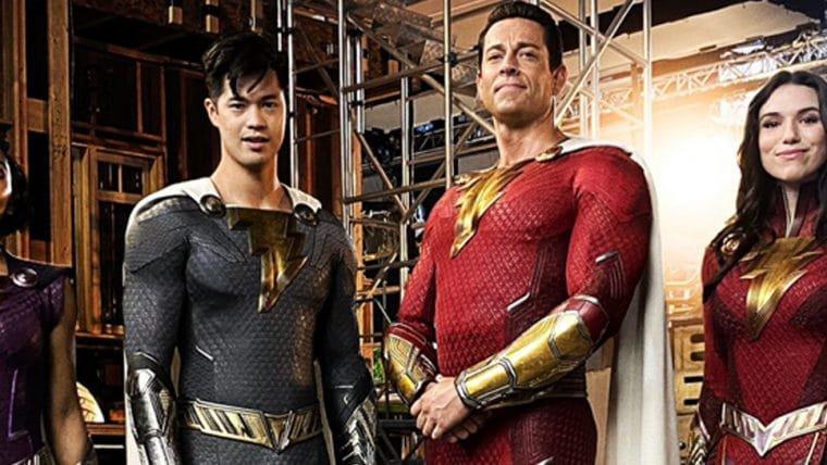 Família Shazam! aparece de uniforme em foto publicada pelo diretor do filme