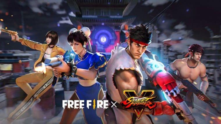 Free Fire recebe conteúdos de Street Fighter