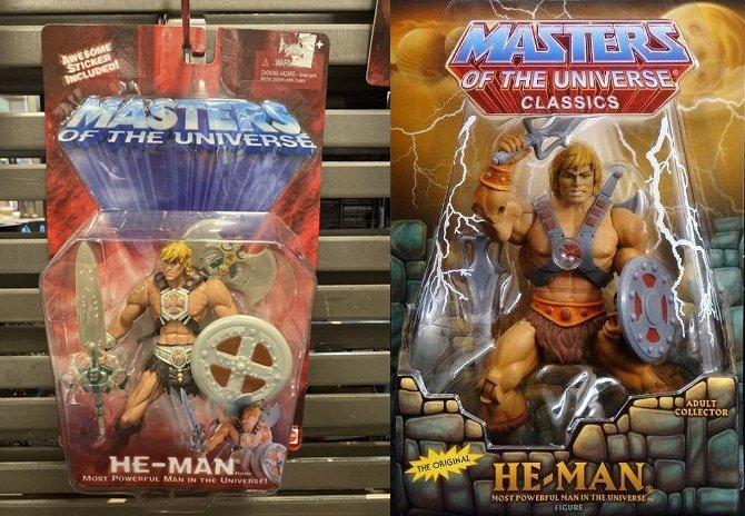 Bonecos do He-Man nas coleções 200X e Classics