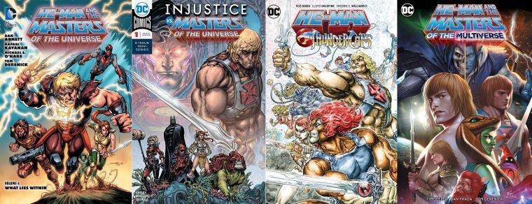 Capas de HQs do He-Man na DC (Divulgação/DC)