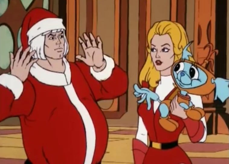 He-Man e She-Ra no especial de Natal (Divulgação/Funimation)