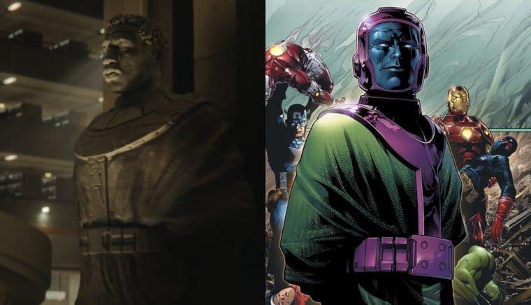 Estátua de Kang em Loki e Kang nas HQs (Divulgação/Marvel)