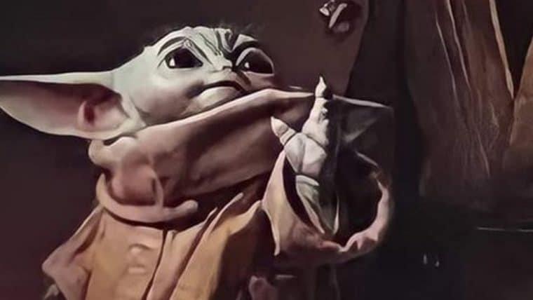 Baby Yoda e Luke Skywalker constroem sabre de luz em pôster de The Mandalorian