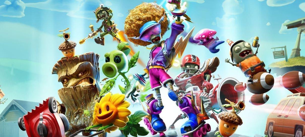 PS Plus de agosto terá Plants vs Zombies, Tennis World Tour 2 e Hunter's Arena
