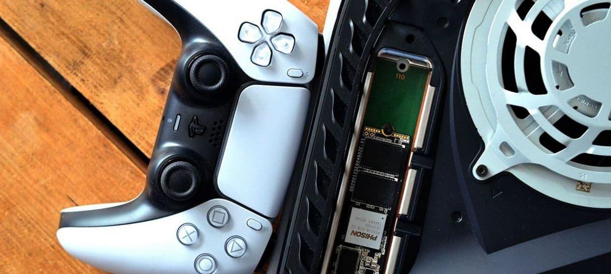 PlayStation 5 recebe beta que adiciona suporte de SSD M.2 e mais