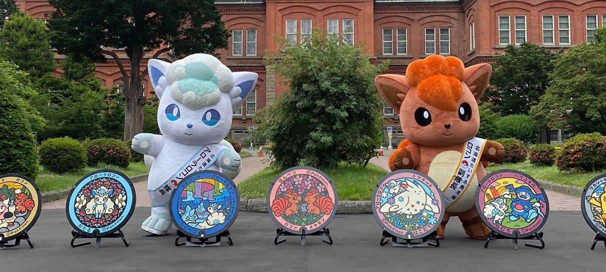 Tampas de bueiro são decoradas com Pokémon no Japão