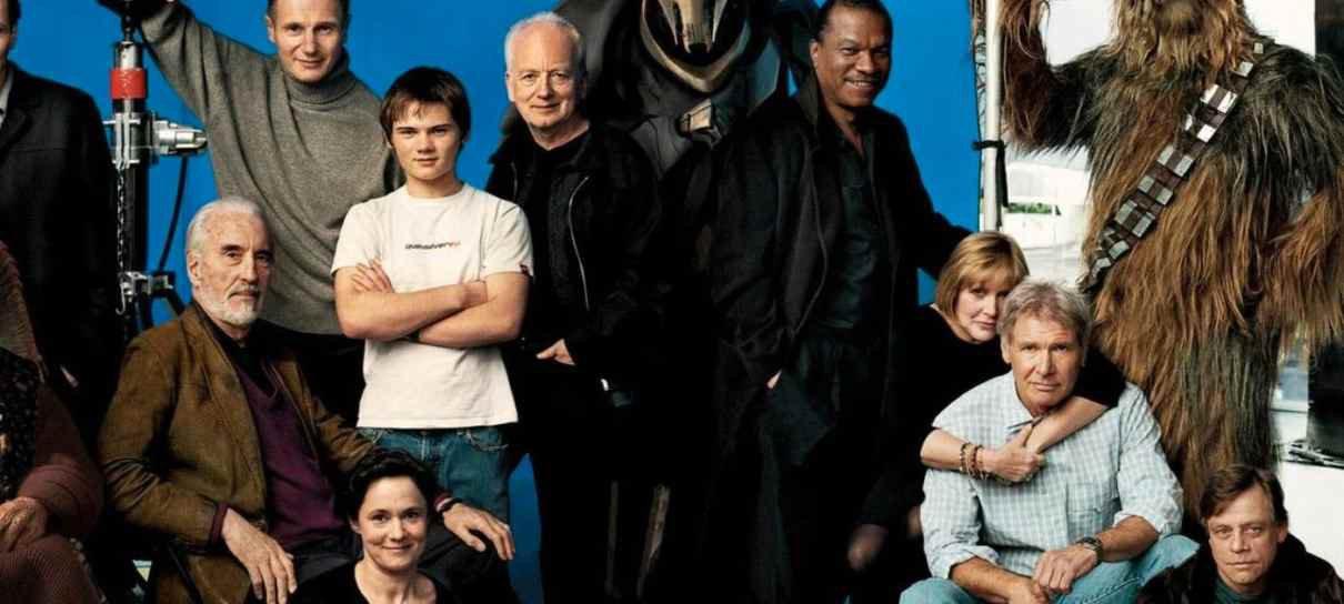 Mark Hamill foi inserido digitalmente em foto icônica do reencontro de Star Wars