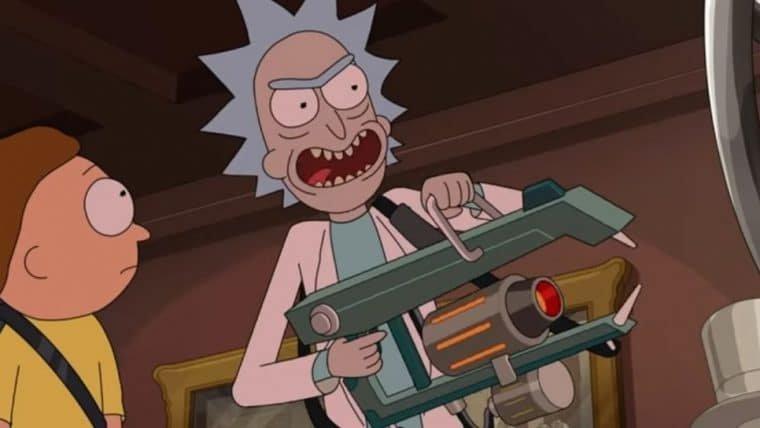 Dupla tenta roubar a constituição americana em cena de Rick and Morty