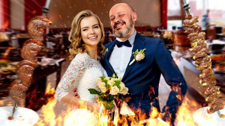 Festa de casamento na churrascaria?