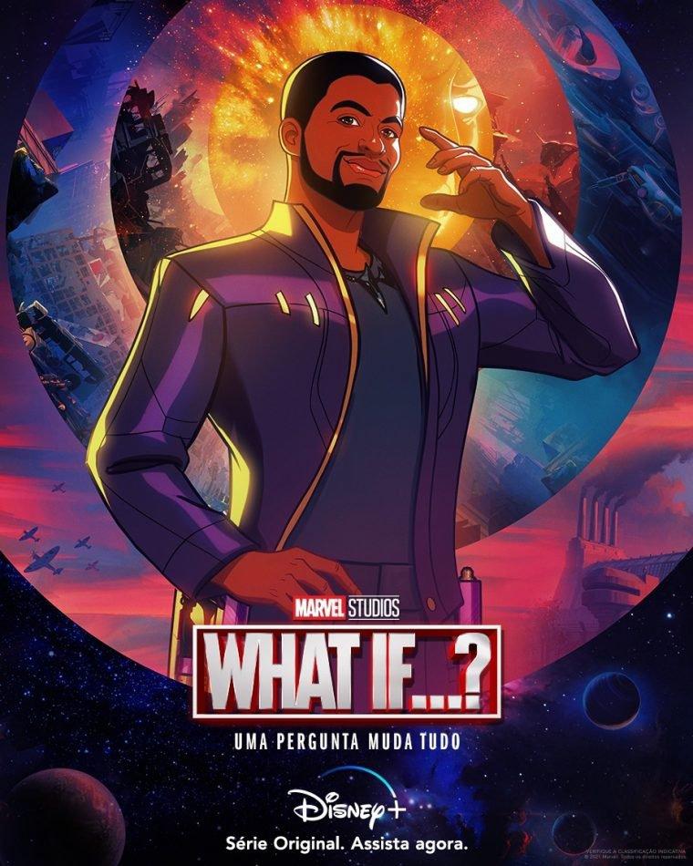 T'Challa Senhor das Estrelas em pôster de What If...? (Divulgação/Marvel)