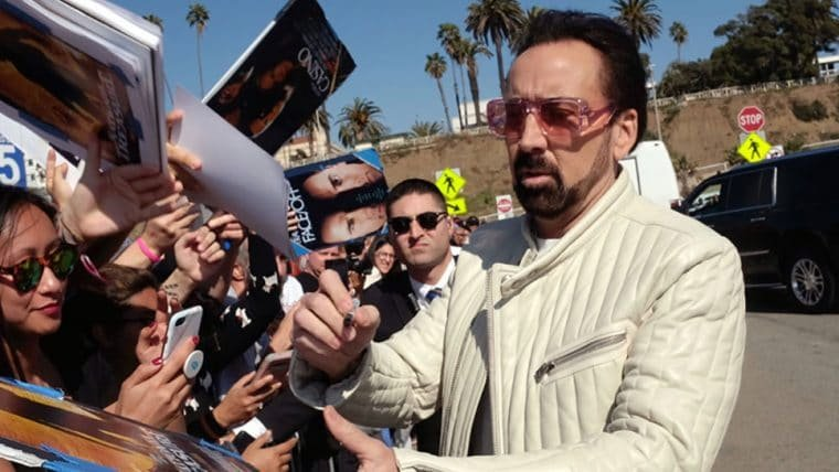 Nicolas Cage é aplaudido na CinemaCon ao apresentar sátira sobre si mesmo