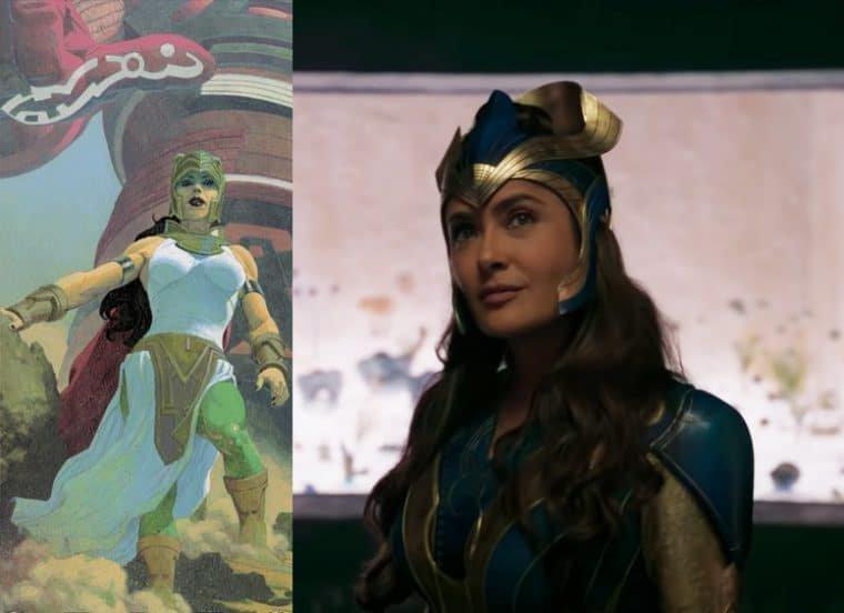 Salma Hayek como Ajak em Eternos (Divulgação/Marvel)