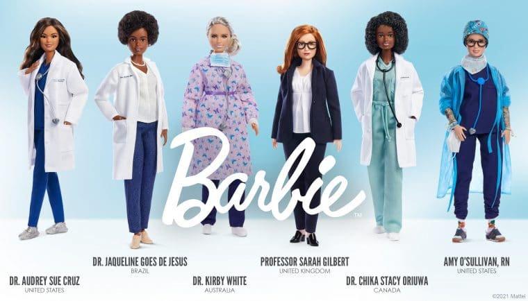 Profissionais da saúde viram bonecas Barbie (Divulgação/Mattel)