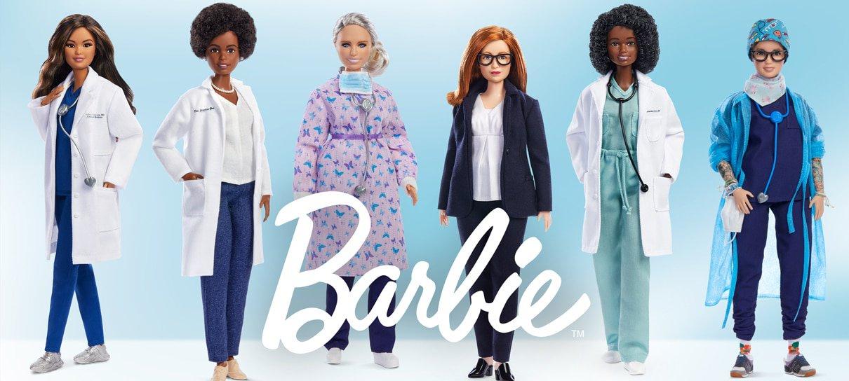 Com direito a boneca brasileira, Barbie revela linha inspirada em profissionais da saúde