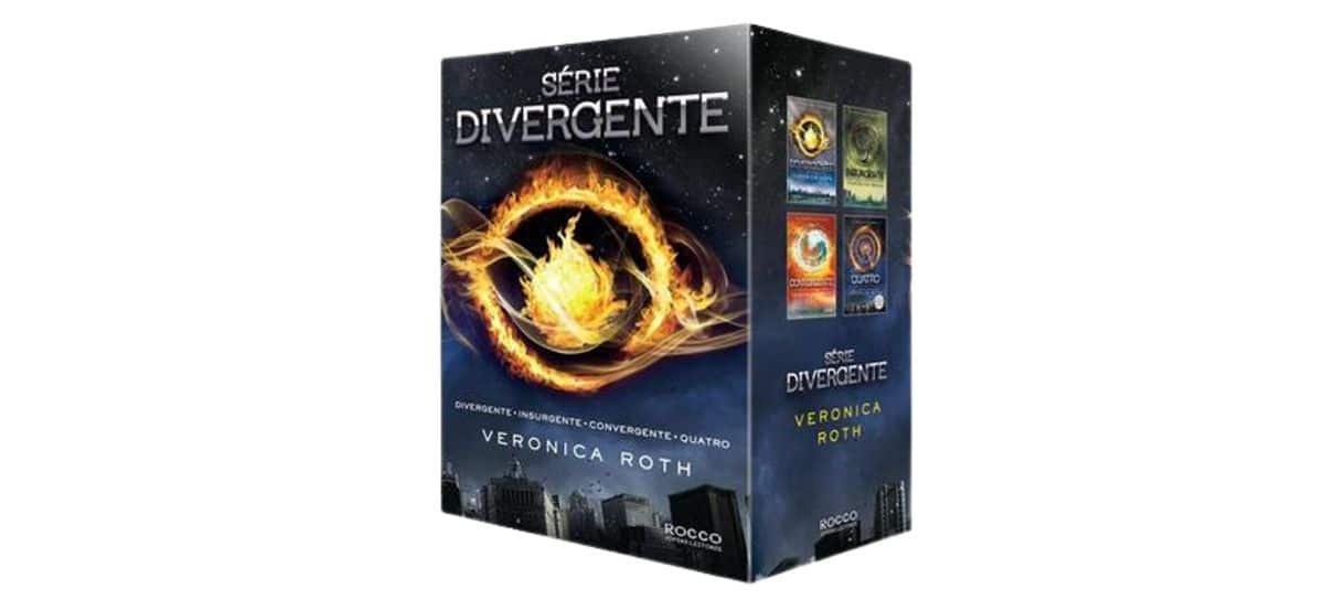 Box da série Divergente na Black App da Magalu