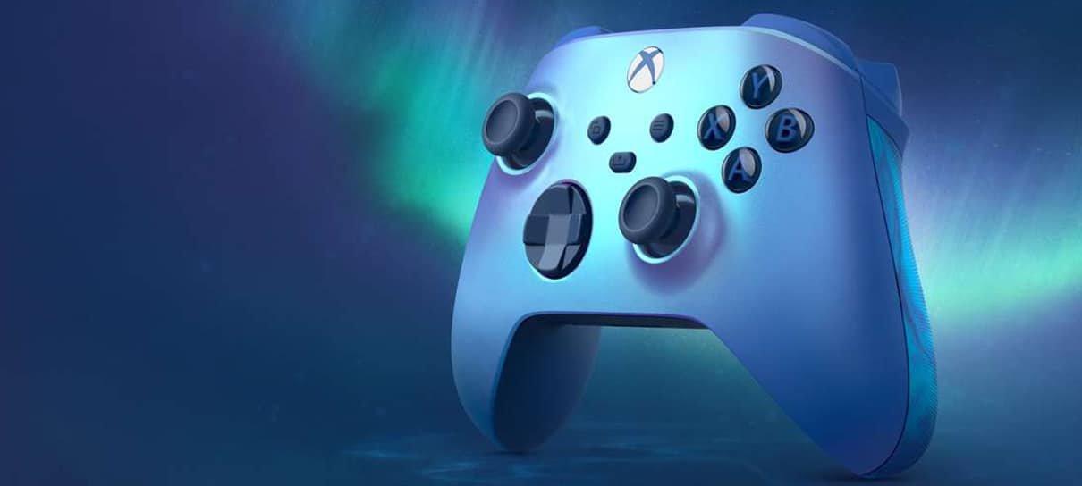 Microsoft anuncia edição especial de controle de Xbox na cor Aqua Shift