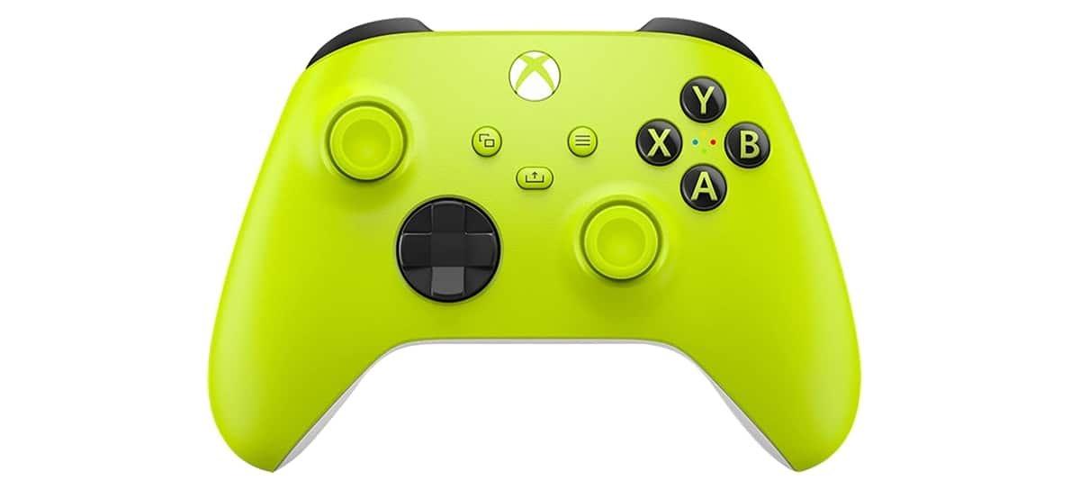 Electric Volt é um dos controles Xbox sem fio com novas cores.