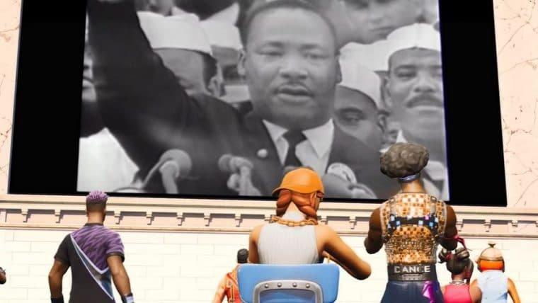 Fortnite lança experiência interativa em homenagem a Martin Luther King Jr.