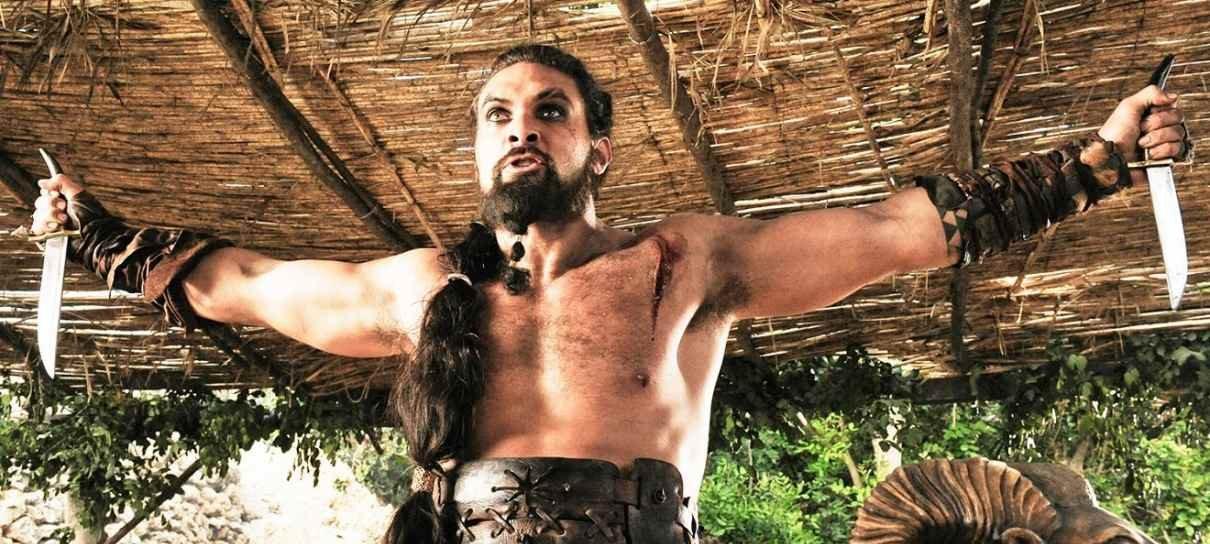 Jason Momoa não gosta de ser questionado sobre cena controversa de Game of Thrones