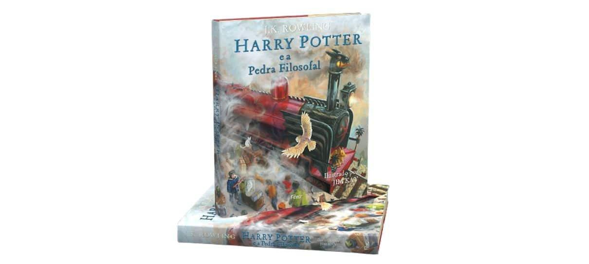 Edição Ilustrada de Harry Potter e a Pedra Filosofal na Black App da Magalu