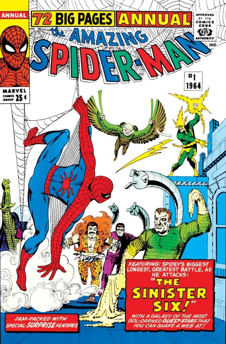 Capa de Amazing Spider-Man Annual #1, a primeira aparição do Sexteto Sinistro nas HQs (Divulgação)