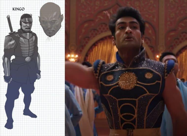 Kumail Nanjiani como Kingo em Eternos (Divulgação/Marvel)