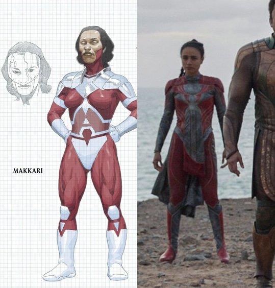 Lauren Ridloff como Makkari em Eternos (Divulgação/Marvel)