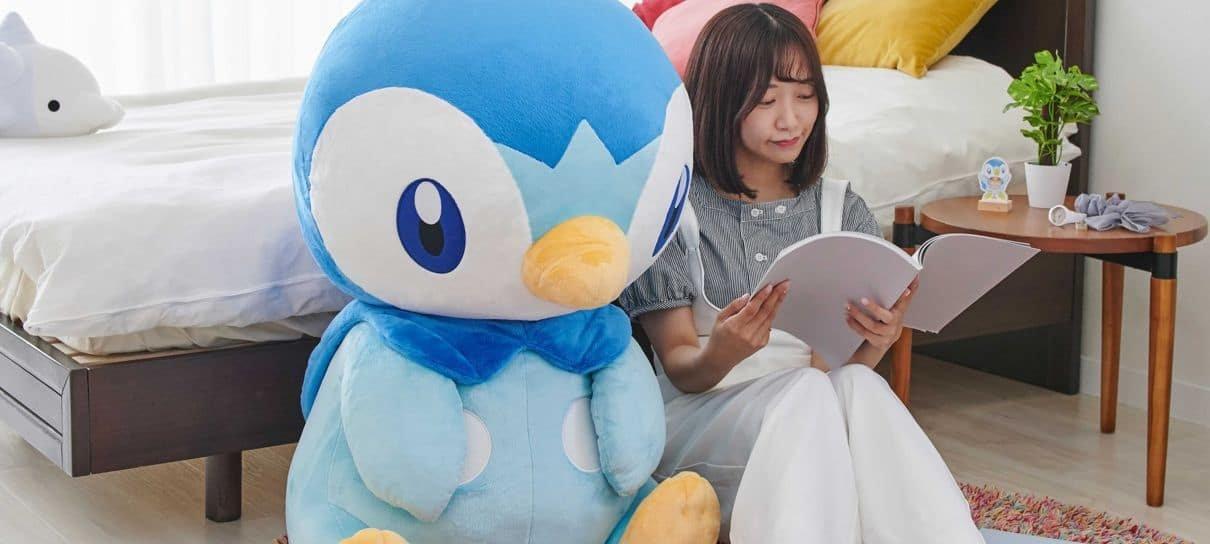 Piplup de pelúcia gigante é o Pokémon perfeito para um abraço