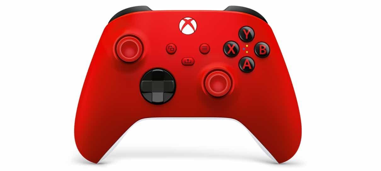 Pulse Red é um dos controles Xbox sem fio com novas cores