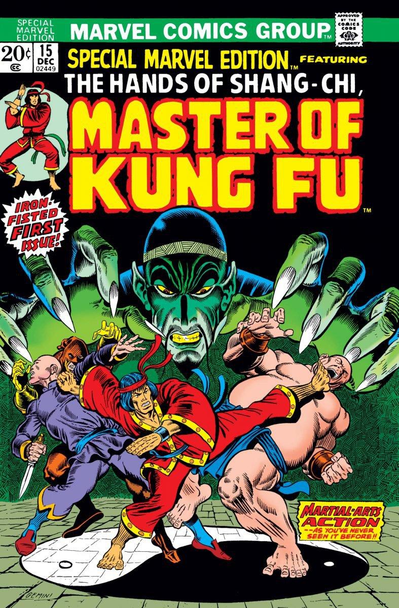 Capa de Special Marvel Edition #15, primeira aparição de Shang-Chi nas HQs