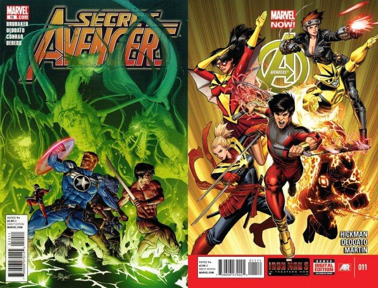 Capas das HQs Secret Avengers e Avengers (Divulgação)
