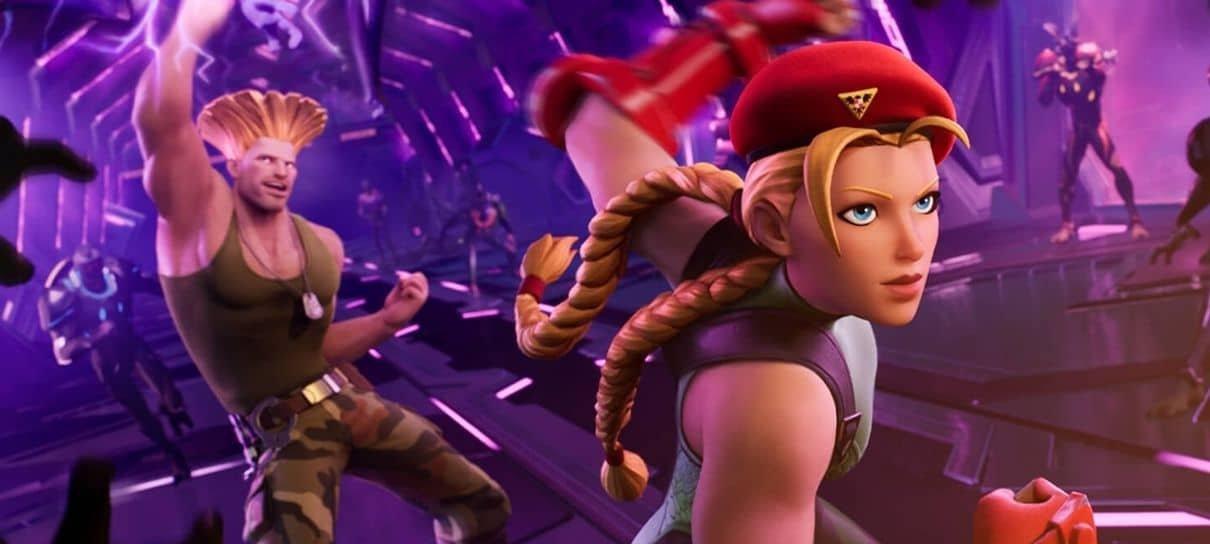 Cammy e Guile, de Street Fighter, estão chegando ao Fortnite