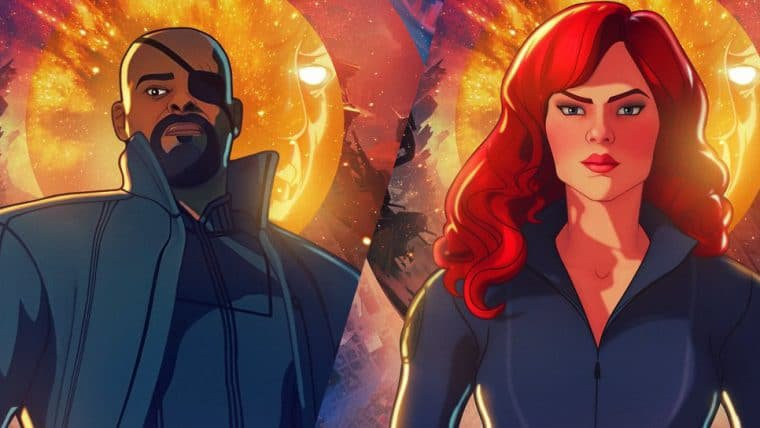 What If…? ganha novos cartazes com foco em Viúva Negra e Nick Fury