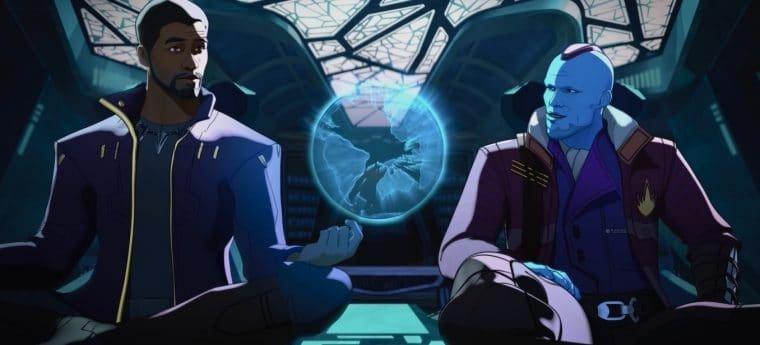 T'Challa e Yondu em What If...? (Divulgação/Marvel)