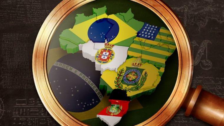 História das bandeiras do Brasil