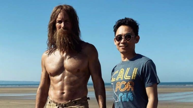 Patrick Wilson aparece bem diferente nos bastidores de Aquaman 2