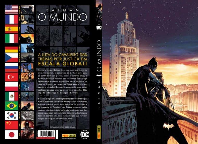 Capa brasileira de Batman: O Mundo (Divulgação)
