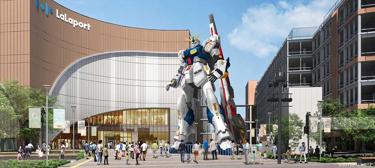 Japão terá mais uma estátua de Gundam em tamanho real
