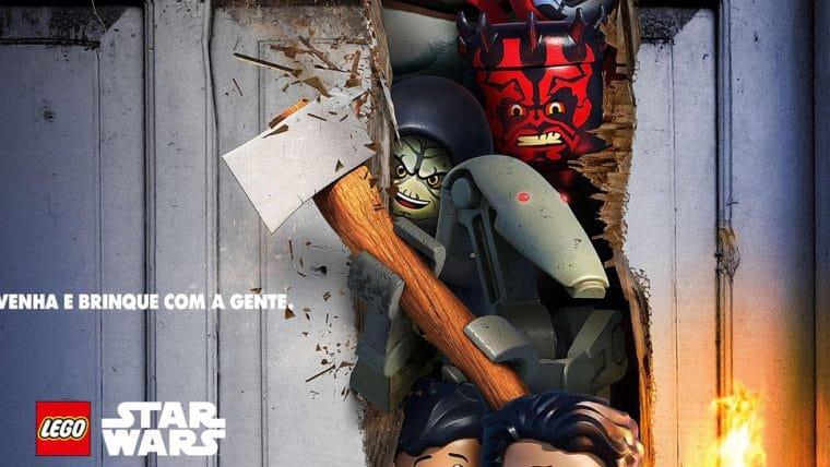 LEGO Star Wars homenageia O Iluminado no pôster do especial Contos Aterrorizantes; veja
