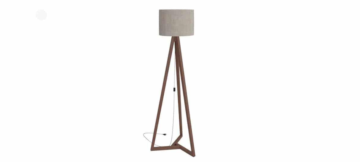 Luminária de chão é um dos produtos da sala perfeita do NerdBunker