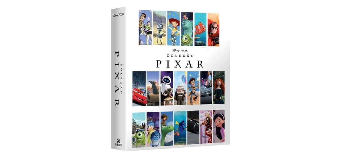Box com os filmes da Pixar