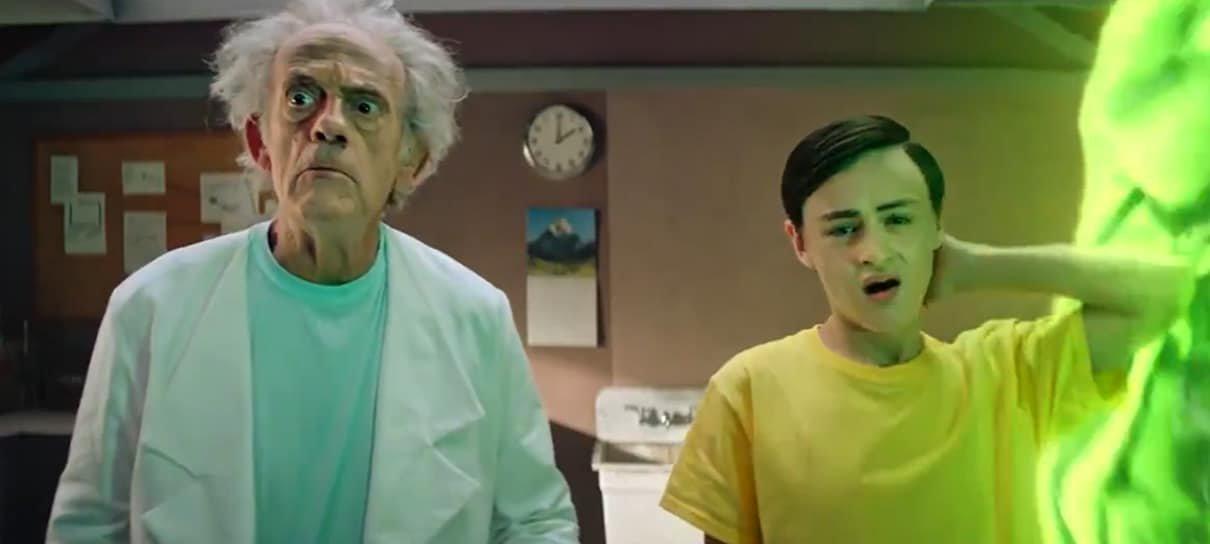 Rick and Morty ganha comercial live-action com Christopher Lloyd